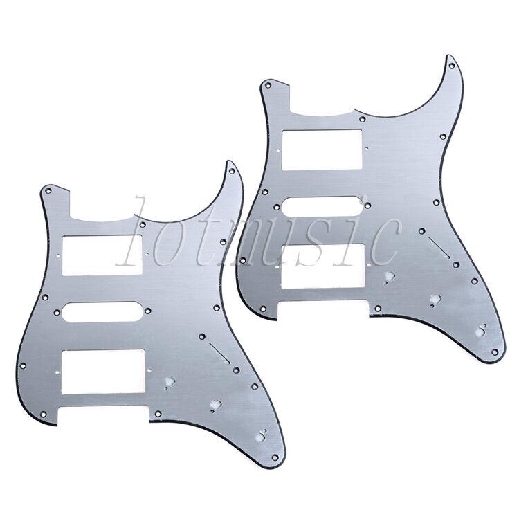 2pcs hsh aluminum guitar pickguard for fender stratocaster. Black Bedroom Furniture Sets. Home Design Ideas