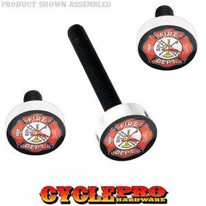 Silver Billet Fairing Windshield Hardware Kit 14-Up Harley - FIRE FIGHTER DEPT