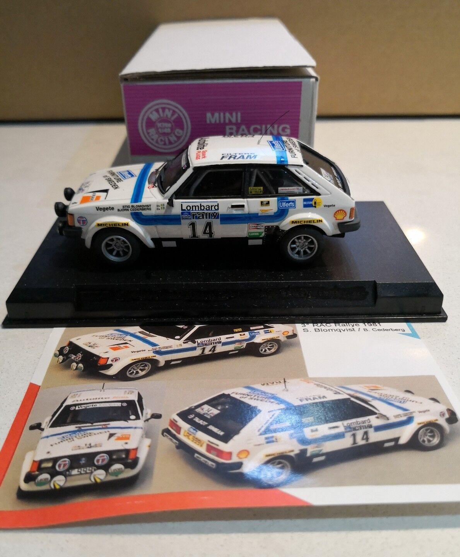 MINI RACING 1 43 rally - 0485 TALBOT SUNBEAM LOTUS GR.4 ULFERTS RAC 1981 rare