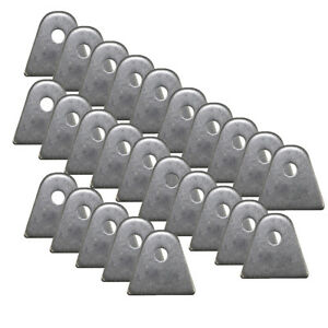 "10 Pack Chassis Mounting Tabs 1//8/"" Thick Steel 1//4/"" X 1//2/"" Slot 1-7//16/"" Weldable"