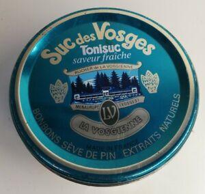 Rare Boîte en métal Suc des Vosges Tonisuc, Rucher, Vintage, décoration, ronde