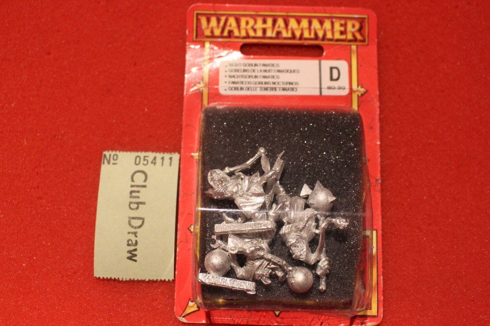 Games workshop warhammer orks und goblins grot fanatiker nachtgoblin - metall bnib