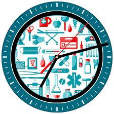"NURSE #S18 RN LPN Healthcare medical nursing care heart hospital 8/"" WALL CLOCK"