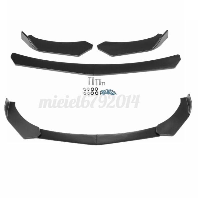 Universal Matte Black Front Bumper Spoiler Lip Body Kit Splitter Chin Decoration