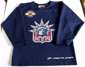 the latest d8bfe ce0fe Details about New York Rangers Lady Liberty Pro Player Practice NHL Hockey  Jersey Men's Medium