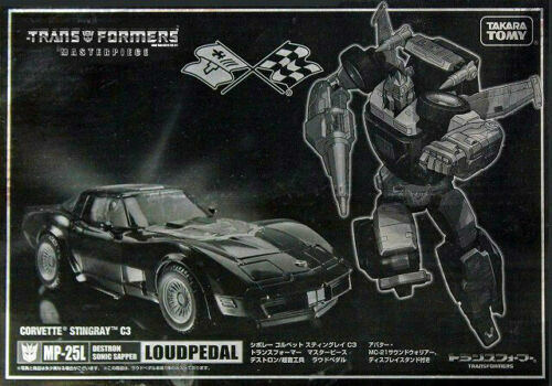 Transformers Masterpiece MP-25L Loudpedal Corvette Action Figure Car KO Toy Gift
