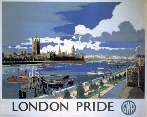 Vintage Retro Travel Poster LONDON A4 A3 A2 A1 Home Wall Art Print