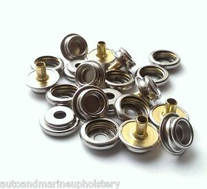 25 UPHOLSTERY WINDSHIELD STUD SNAPS SET OF STAINLESS STEEL MARINE BOAT