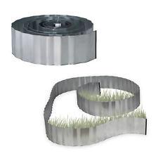 2x Rasenkante verzinkt Beeteinfassung Wurzelsperre Beetumrandung Metall flexibel
