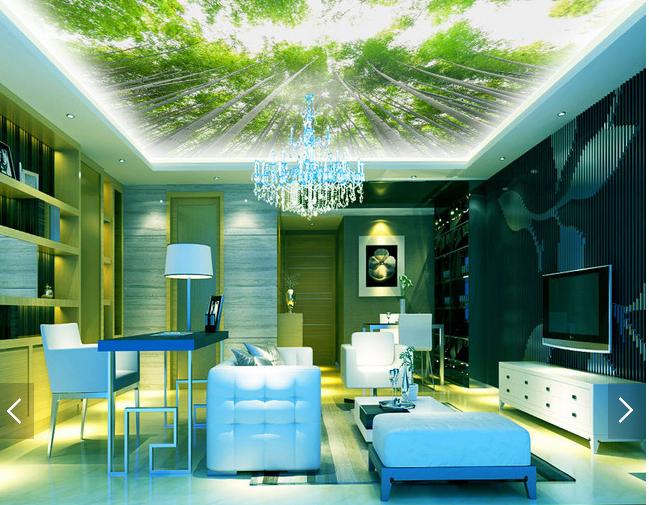 3D Lush Bamboo 732 Ceiling WallPaper Murals Wall Print Decal Deco AJ WALLPAPER