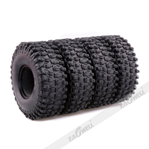 """120mm 1.9/"""" Rubber Tires For RC 1//10 Truck Axial D90 SCX10 Rock Crawler Wheels"""