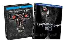Terminator Complete Series Movies 1 2 3 4 5 (Genisys 3D) Box / BluRay Set(s) NEW
