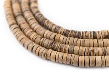 Chocolate Heishi Coconut Shell Beads 3-4mm Brown Wood 22 Inch Strand