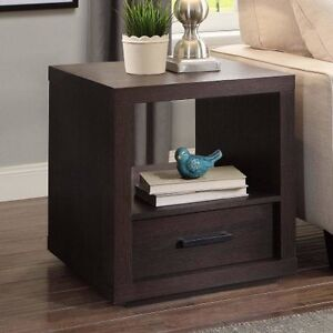 Image Is Loading Better Homes And Garden Steele End Table Espresso