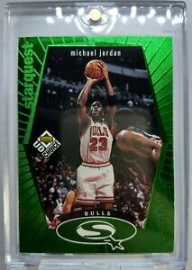 1998-99-UD-Choice-StarQuest-Michael-Jordan-Rare-Green-SQ30-Bulls-Insert