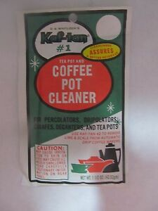 Coffee Pot Stains Cleaning : KAF Tan Coffee Pot Cleaner and Stain Remover KT 1 New 1 5 Oz eBay