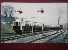POSTCARD A FORMER GWR 0-4-2T WITH 3 PUSH PULL COACHES AT BUCKFASTLEIGH IN AUG 19