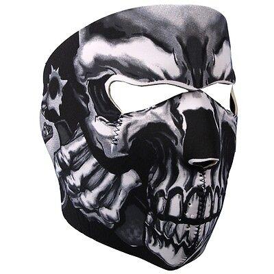 Assassin Ski Mask -  Neoprene Face Mask Reversible Motorcycle Biker Skull Mask
