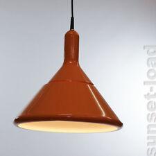 alte Hänge Hoffmeister Leuchte Orange 60er 70er Jahre neuwertig OVP Lampe alt