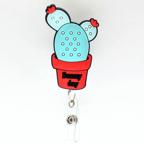1pcs 22 Design Available 360° Rotatable Badge Reel Retractable fit Nurse ID Card