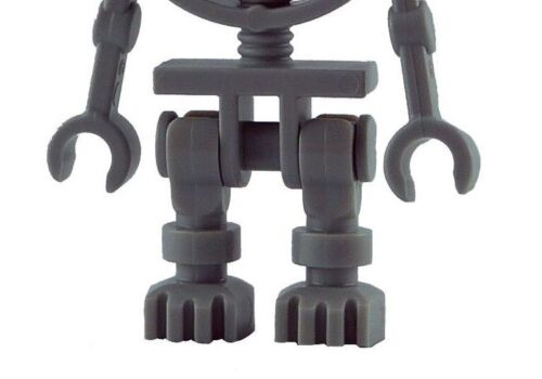 LEGO 4x scheletro grigio rosso occhi neri WHITE SKELETON RED EYES Pauroso Nuovo