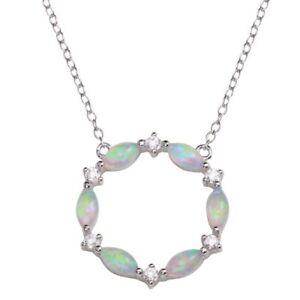 f4797cef3da0 La imagen se está cargando Circulo-Abierto-Colgante-Collar -con-Laboratorio-Diamantes-amp-