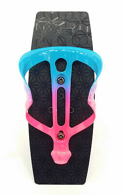 Supacaz Fly Cage Ano Bicycle Cycling Water Bottle Cage Matte Neon Purple