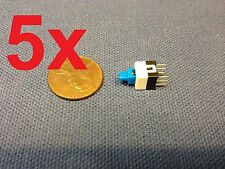 5 Pieces 6 Pin Latching 7x7mm Mini Tactile Push Button Switch On Off Dip C14