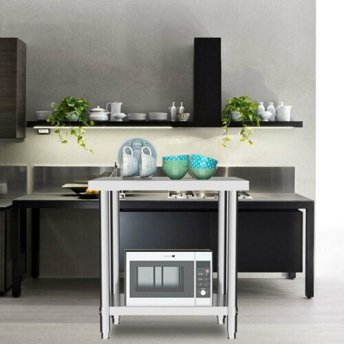COMMERCIAL STAINLESS STEEL TABLE KITCHEN FOOD PREP SHELF WORK BENCH UNDERSHELF