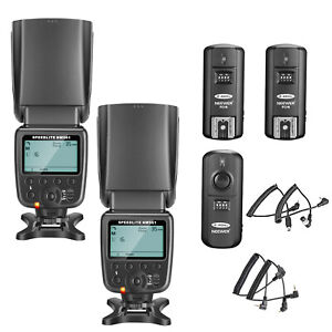 Neewer-2pcs-NW-561-LCD-Flash-Speedlite-Kit-with-Trigger-for-Canon-NIkon-Camera