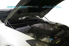 Silver Carbon Hood Shock Stainless Damper for 03-08 Infiniti G35 Sedan Coupe