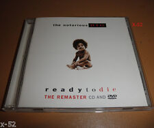 NOTORIOUS B.I.G. cd + dvd READY TO DIE the REMASTER big poppa JUICY unbelievable