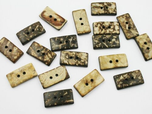 noix de coco noix de coco Bouton 5 boutons 23x12x4mm rectangle