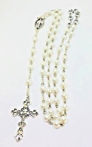 High Quality Handmade by Niki Personalised Rosary beads  Religious Baptism