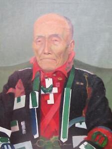 Peter Blake Pop Art Extraordinary Modern Oil on Canvas Portrait
