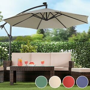 a66a487490 Details about Garden Gear Cantilever Banana Sun Shade Parasol Patio 2.7m  Hanging Umbrella NEW