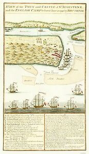 St Augustine Florida Map.Details About Old City Map Siege Of St Augustine Florida Silver 1740 23 X 39 92