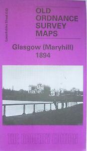 OLD-ORDNANCE-SURVEY-DETAILED-MAP-SCOTLAND-GLASGOW-Maryhill-1894-Godfrey-Edit