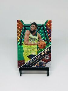 2019-20-Panini-Mosaic-Will-To-Win-Silver-Prizm-Karl-Anthony-Towns-2-Wolves