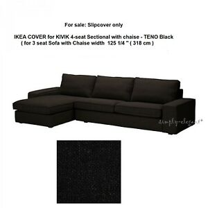 Astounding Details About Ikea Cover For Ikea Kivik 4 Seat Sectional Sofa With Chaise Longue Teno Black Inzonedesignstudio Interior Chair Design Inzonedesignstudiocom