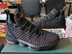 5d7b5003d6c Nike LeBron XVI 16 Fresh Bred Black University Red Basketball James ...
