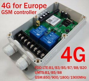 Details about 4G GSM Remote Control Relay - 2 x 30 Amp Relays - DC Powered  - Europe Only