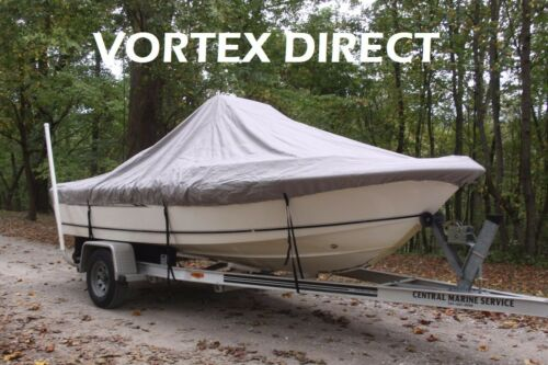 """FOR UP TO 54/"""" TALL CONSOLE NEW VORTEX GREY 22/'6/"""" CENTER CONSOLE BOAT COVER"""