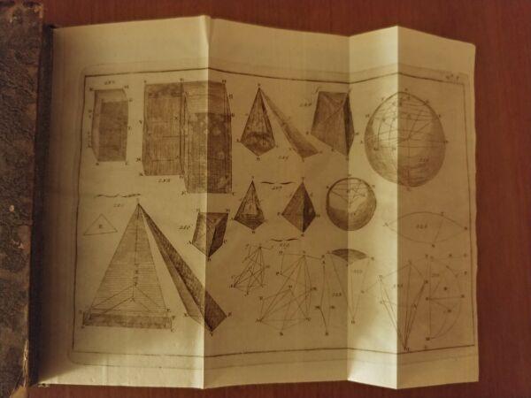 Elementi Di Geometria Di Adriano M. Le Gendre Pisa 1802 Prima Ed. Matematica