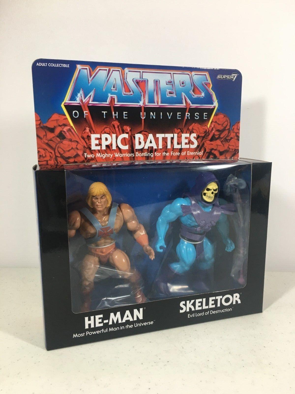 Masters del Universo súper 7 batallas épicas He-man Skeletor 5.5 pulgadas Filmation