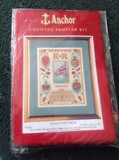 Queens Golden Jubilee - Anchor Cross Stitch Kit / Sample