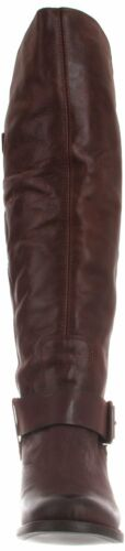 Dolce Vita DV Engrid Boots Brown Leather Western Chic Brand New Retail $305