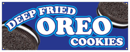 """24/"""" Deep Fried Oreo Sticker Candy Cookie Concession Stand Sign"""