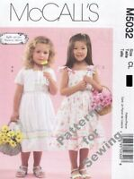 Pattern Mccalls Sewing Girl Dress 6 Variations Sz 6-8