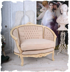 salon canap vintage boudoir shabby chic fauteuil ebay. Black Bedroom Furniture Sets. Home Design Ideas